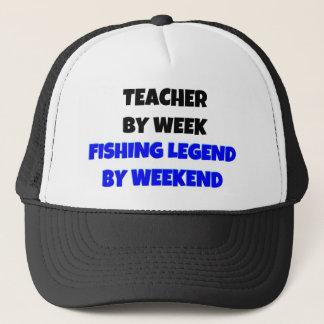 Gorra De Camionero Profesor por leyenda de la pesca de la semana por