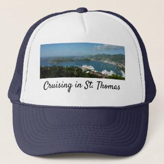 Gorra De Camionero Puerto en las Islas Vírgenes de St Thomas los