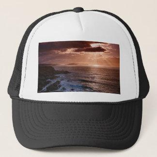 Gorra De Camionero Puesta del sol escocesa, costa del norte de