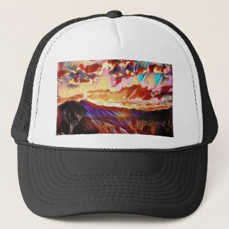 Gorra De Camionero Puesta del sol majestuosa vibrante de la montaña
