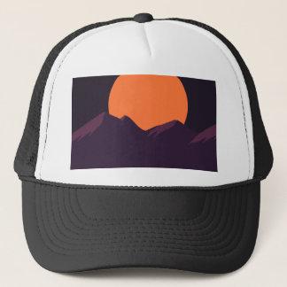 Gorra De Camionero Puesta del sol púrpura del pixel