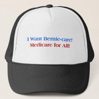 Gorra De Camionero ¡Quiero el Bernie-Cuidado, Seguro de enfermedad