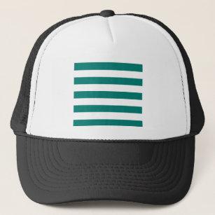 Gorra De Camionero Rayas - blanco y verde del pino 7c6faf5c0c8