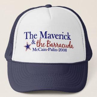 Gorra De Camionero Rebelde y Barracuda (McCain Palin 2008)
