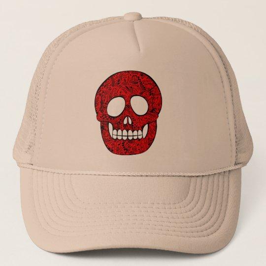 Gorra De Camionero Red skull