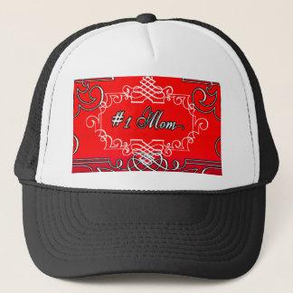 Gorra De Camionero Regalo rojo de la tipografía del día de madre de