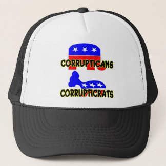 Gorra De Camionero Republicano Demócrata de Corrupticans