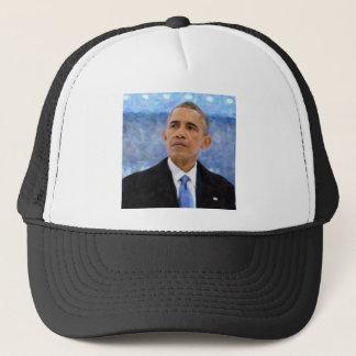 Gorra De Camionero Retrato abstracto de presidente Barack Obama 30x30