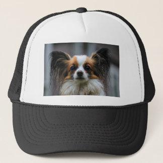 Gorra De Camionero Retrato del perro criado en línea pura de Papillon