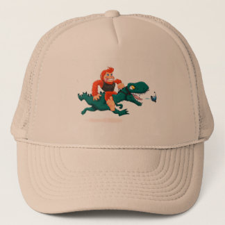 Gorra De Camionero Rex-dibujo animado Bigfoot del Bigfoot-dibujo