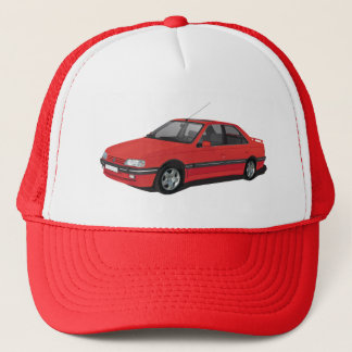 Gorra De Camionero Rojo de Peugeot 405