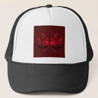 Gorra De Camionero Rojo del chocolate de los elementos del diseño