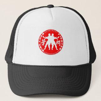 Gorra De Camionero Rojo del emblema del combatiente de Chun del ala