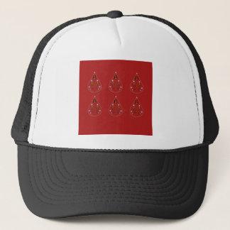 Gorra De Camionero Rojo dibujado mano de Paisleys. Ilustraciones