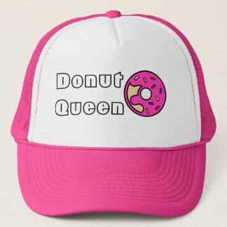 Gorra De Camionero Rosa de la reina del buñuelo helado