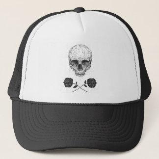 Gorra De Camionero Rosas de N del cráneo