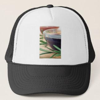 Gorra De Camionero Salsa de soja en un vidrio y una puntilla del
