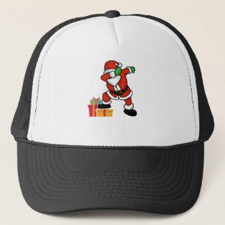 Gorra De Camionero Santa lindo que frota en la camiseta del navidad