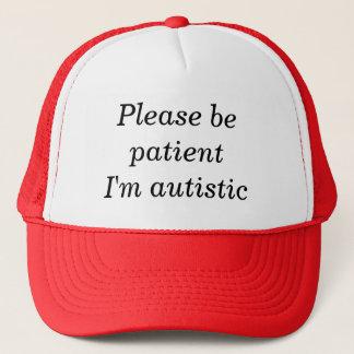 Gorra De Camionero Sea por favor paciente yo son autístico (el
