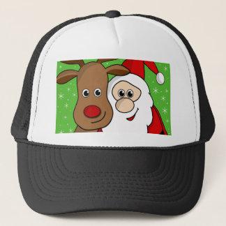 Gorra De Camionero Sefie de Santa y de Rudolph