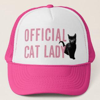 Gorra De Camionero Señora oficial Hat Pink del gato