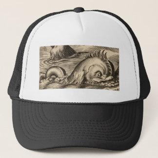Gorra De Camionero Serpiente de mar que monta una onda