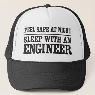 Gorra De Camionero Sienta seguro en la noche, sueño con un ingeniero