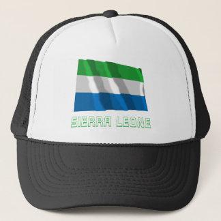 Gorra De Camionero Sierra Leone que agita la bandera con nombre