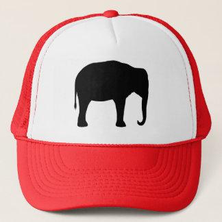Gorra De Camionero Silueta del elefante asiático