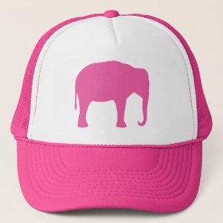 Gorra De Camionero Silueta del elefante rosado