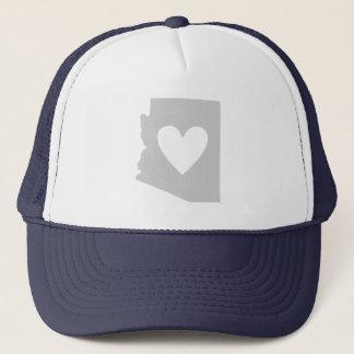 Gorra De Camionero Silueta del estado de Arizona del corazón