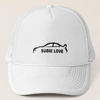 Gorra De Camionero Silueta del negro del amor de Subie