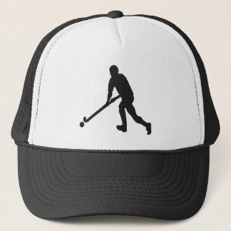 Gorra De Camionero Silueta del varón del hockey hierba