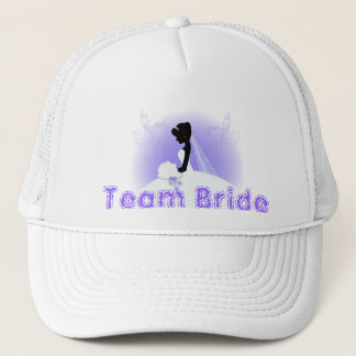 Gorra De Camionero Silueta nupcial de la novia del vestido de boda de