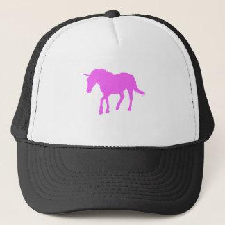Gorra De Camionero Silueta rosada del unicornio