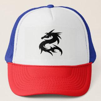 Gorra De Camionero Silueta tribal del dragón