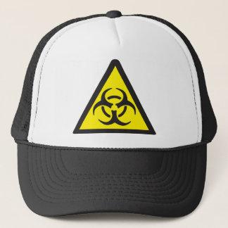 Gorra De Camionero Símbolo amonestador del Biohazard