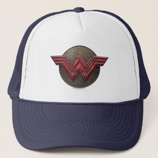 Gorra De Camionero Símbolo de la Mujer Maravilla sobre círculos