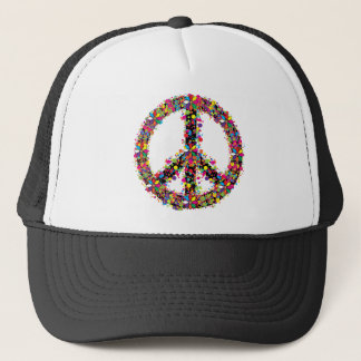 Gorra De Camionero Símbolo de paz grande