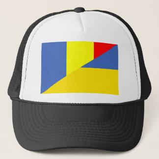 Gorra De Camionero símbolo del país de la bandera de Rumania Ucrania
