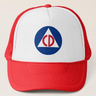 Gorra De Camionero Símbolo del vintage del logotipo de la defensa