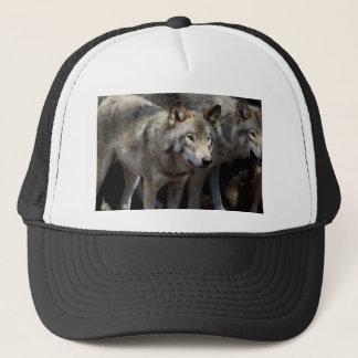 Gorra De Camionero Situación del lobo gris