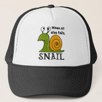 Gorra De Camionero Snailing, cuando todo falla