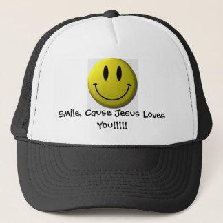 Gorra De Camionero ¡Sonrisa, amores de Jesús de la causa usted!!!!!