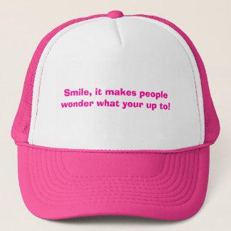 Gorra De Camionero ¡Sonrisa, hace que la gente se pregunta lo que su