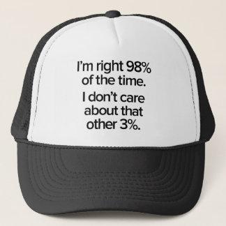 Gorra De Camionero Soy el 98% derecho del tiempo