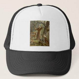 Gorra De Camionero St Francis de Assisi rodeó por los animales