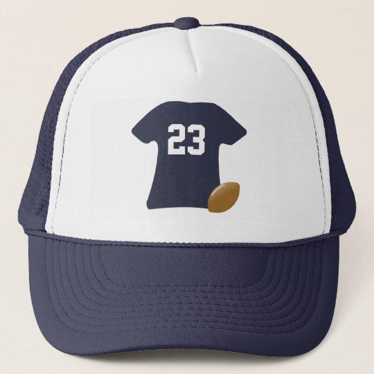 Gorra De Camionero Su camisa del fútbol con la bola