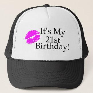 Gorra De Camionero Su mi 21ro cumpleaños (beso)