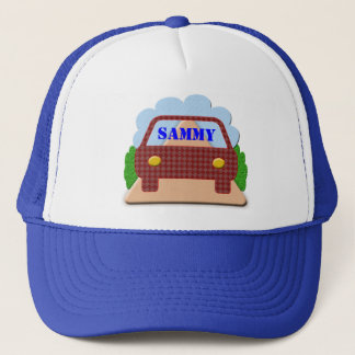 Gorra De Camionero Su nombre en ventana-gorra del coche